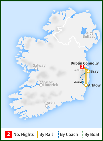 From Dublin To Wicklow Avoca Ballykissangel And Glendalough - Where is dublin
