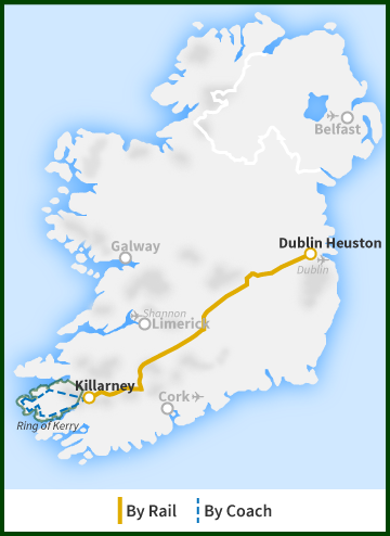 Tour of Ireland Map - Ring of Kerry