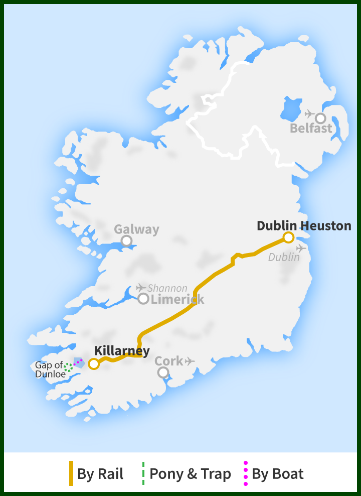 Map Of Ireland Lakes.Day Tour Of The Gap Of Dunloe Killarneys Lakes Islands Mountain