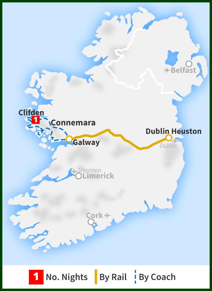 Two Day Tour The Connemara Capital Railtours Ireland First Class