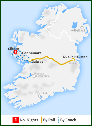 Tour of Ireland Map - Connemara Capital