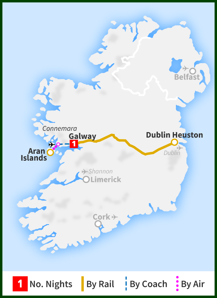 Overnight Tour - Aran Islands and Galway - Railtours Ireland