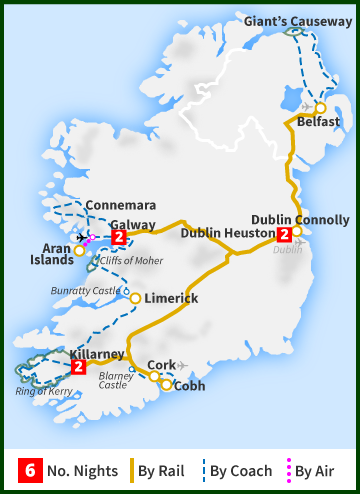 Tour of Ireland Map - The All Ireland Tour