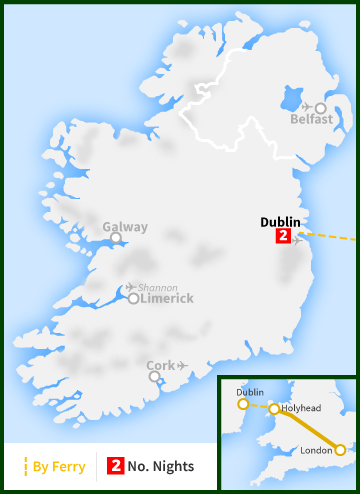 London to Dublin Map